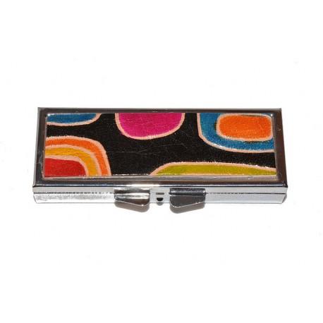 Portapillole Rettangolare con inserto in Cuoio Dipinto a Mano