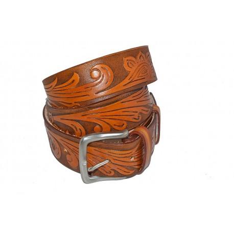 Cintura in Cuoio di Toro colore Tan