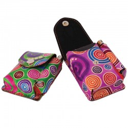 Portasigarette in Cuoio con Porta Accendino disegno Spirali
