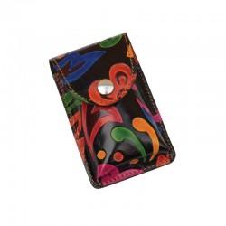 Portasigarette Slim in Cuoio decorato con disegno Polinesia