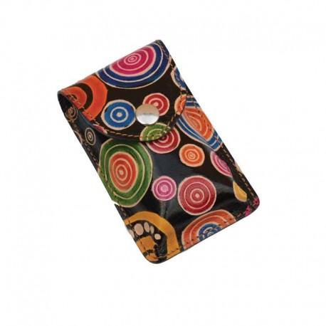 Portasigarette Slim in Cuoio decorato con disegno Spirali