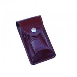Portasigarette Slim in Cuoio decorato con disegno Geo Monocolore