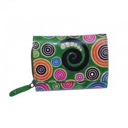 Portafoglio da Donna Modello Scout in Cuoio con decorazione Spirali
