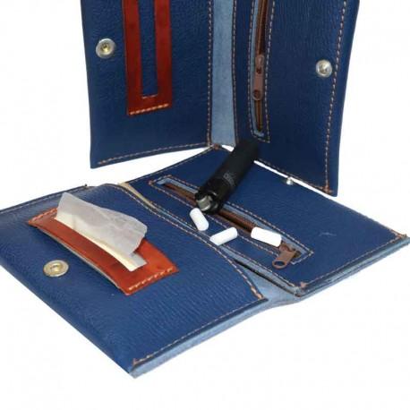 Porta Tabacco Artigianale Blu