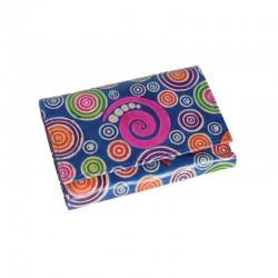 Portafoglio Grande-Special in cuoio con disegno Spirali