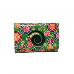 """Portafoglio """"Comfort"""" in Cuoio con disegno Spirali"""
