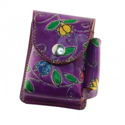 Portasigarette con Porta Accendino Coccinelle Viola